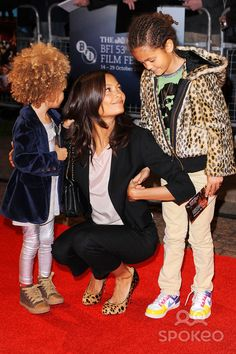 Thandie Newton and her daughters