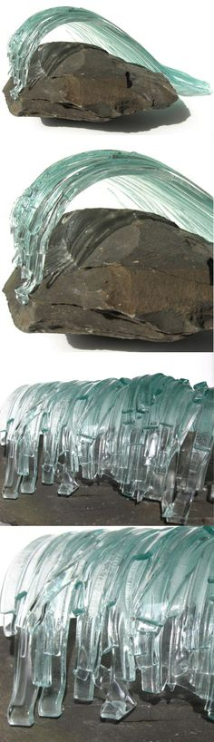 Large Glass Wave Sculpture
