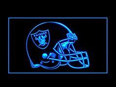 Oakland Raiders Helmet Display Shop Neon Light Sign
