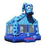 This 15' x 15' blue dog bounce is adorable and perfect for a boy or girl, and great for any occasion. Sets up in under ten minutes!! $160 a day.