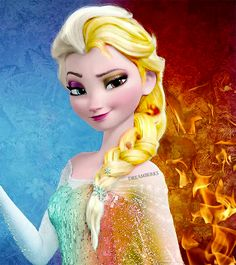 Elena and Ella are one person but have conflicting personalities and have two sets of power Elena is Winter,ice,snow. Ella is Fire,heat,light. 17 years old.Credit hours to pizza wrapped Turkey