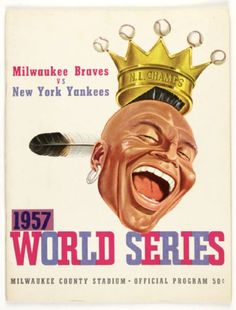 1957 World Series Program - Braves vs. Yankees