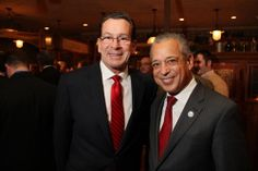 Governor Malloy and Mayor Segarra at the Big Red for the Arts Event