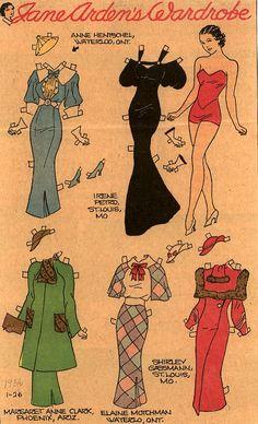 Jane Arden's wardrobe