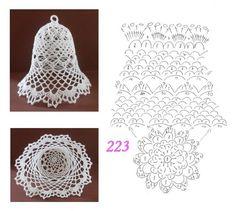 Crochet ideas that you'll love Crochet Snowflake Pattern, Crochet Lace Edging, Crochet Snowflakes, Crochet Diagram, Crochet Flowers, Crochet Christmas Decorations, Crochet Christmas Ornaments, Christmas Crochet Patterns, Holiday Crochet