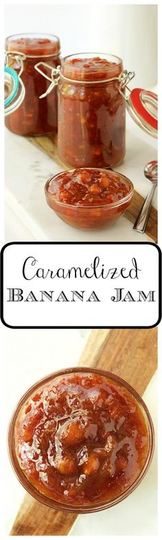 Caramelized Banana Jam - amazingly delicious on yogurt, toast, biscuits, pancakes, ice cream... and another way to use ripe bananas.