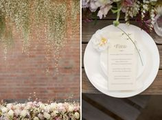 Cascading, falling baby's breath flowers, mixed with perhaps some Wisteria.