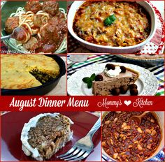 Mommy's Kitchen - Recipes From my Texas Kitchen!: My August Dinner Menu is live on the blog. #menu menuplanning #dinner #mommyskitchen