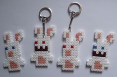 lapins crétin porte-clefs