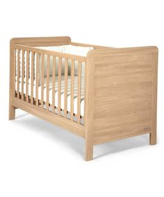 natural oak effect cot bed.