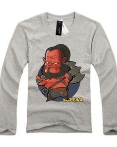 Dota 2 herói Mogul Kahn impresso camisetas de manga longa para homens-
