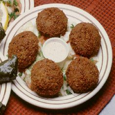 Baked falafel wraps with tzatziki sauce.These falafel cook very well in a turbo oven,as it crisp up the outsides while the middles perfectly cooked.