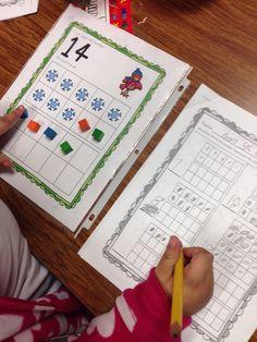 Winter Fun Literacy and Math Centers and FREEBIE - Kindergarten