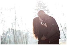 Winter engagement session, loving the harsh light!