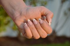 nails of the week: stiletto french with studs