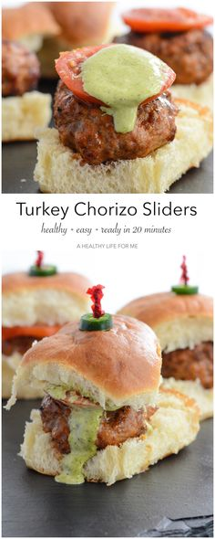 Turkey Chorizo Sliders are the perfect grilled burger with a bit of spicy and tons of flavor. Perfect Grilled Burgers, The Pioneer Woman, Slider Recipes, Wrap Sandwiches, Chorizo, Turkey Recipes, Appetizer Recipes, Appetizers, Easy Meals