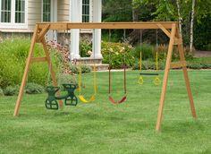 Juegos De Madera Para Jardin Columpio Para Dos Swing Pinte