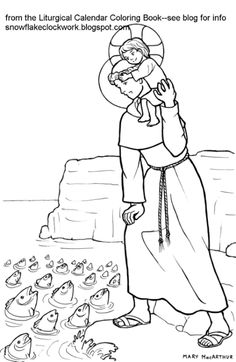 anthony coloring page june pages