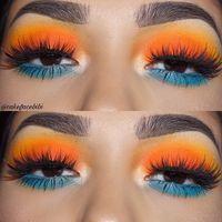 Gorgeous Makeup: Tips and Tricks With Eye Makeup and Eyeshadow – Makeup Design Ideas Makeup Eye Looks, Cute Makeup, Gorgeous Makeup, Pretty Makeup, Skin Makeup, Eyeshadow Makeup, Eyeshadows, Eyeshadow Blue Eyes, Orange Eyeshadow Looks