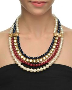 Four String Pearl Necklace ~ beautiful