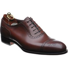 Herring Edward II is a beautiful semi brogue forming part of our Royal Collection. Handmade with a burnished mahogany calf upper, complemented by a rich Burgundy leather lining. Handmade by Alfred Sargent of Northampton to our own specification.