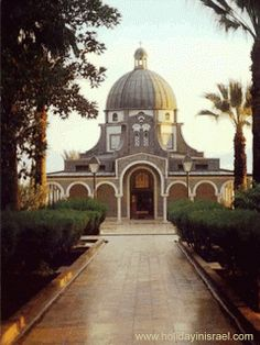 The Franciscan chapel on the Mount of Beatitudes is built on the site where it is believed that Jesus held his famous 'Sermon on the Mount'