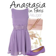 Anastasia in Paris. by alitadepollo, via Polyvore