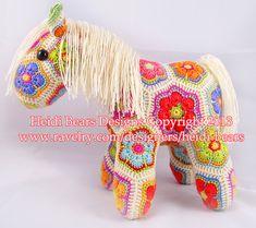 Fatty Lumpkin the Brave African Flower Pony Crochet Pattern