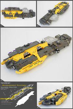 Tempest Bombardment Platform in Lego by Pierre E Fieschi