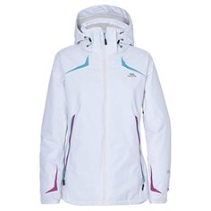 Trespass WomensLadies Norrie Waterproof Winter Ski Jacket XXS White ** Read more reviews of the product by visiting the link on the image.
