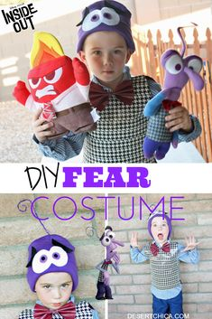 Disney Costume Fear Inside Out Costume - Looking for another Inside Out Costume idea? Check out this adorable DIY Fear from Inside Out Costume. It's easy and no sewing is required!