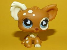 Rare Littlest Pet Shop LPS - Brown Cream Spotted Chihuahua Dog #528