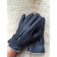 Great Winter Men's Deerskin Leather Gloves