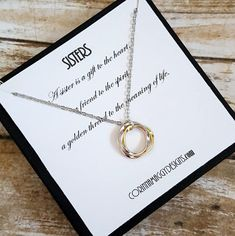 Sister Necklace / Inspirational Jewelry / Three Sisters Jewelry / Gift For Sister,  Silver or Gold Sisters Jewelry
