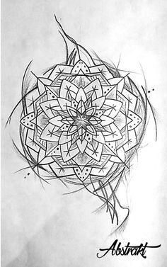 Abstract meduse mandala