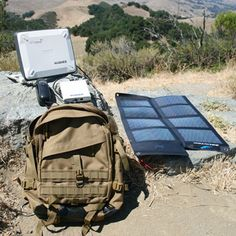Internet and cell phones anywhere in the world with no connection and NO ELECTRICITY!  Pack comes with solar panels!..BGAN Backpack