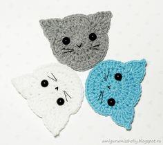 Applique Ivory crochet.  Description of knitting.