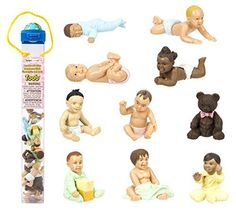 Safari Ltd Bundles of Babies TOOB  Comes With a Classic Teddy Bear and 9 Different Babies in Active Poses  Quality Construction BPA Free  For Ages 3 and Up -- Click image for more details.Note:It is affiliate link to Amazon.