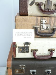 antique luggage