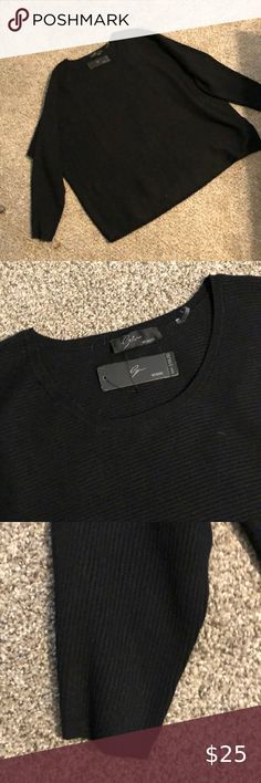 Ejm Great basic black sweater Ejm Sweaters Crew & Scoop Necks Wrap Sweater, Cropped Sweater, White Sweaters, Sweaters For Women, Nautical Shirt, Brandy Melville Sweaters, Asymmetrical Sweater, Online Thrift Store, Cold Shoulder Sweater