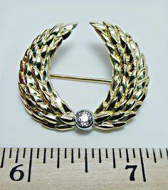 vintage tiffany jewels   Vintage Tiffany Co European Diamond Brooch 18K Gold Italy Estate ...