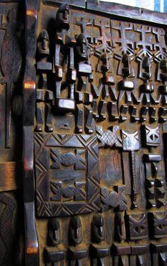 Antique Dogon Mali Wooden Door