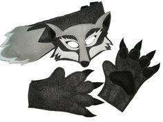 Woodland animaux Halloween pour enfants WOLF a estimé jeu de Costume
