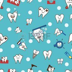 Patrón Seamless dientes