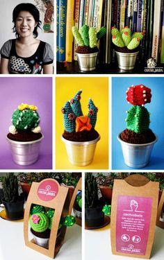 Amigurumi cactus! =)