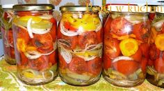 Tomatoes in Winter Pickled Tomatoes Canning Vegetables, Veggies, Pickled Tomatoes, Polish Recipes, Canning Recipes, Beets, Pickles, Cucumber, Food And Drink