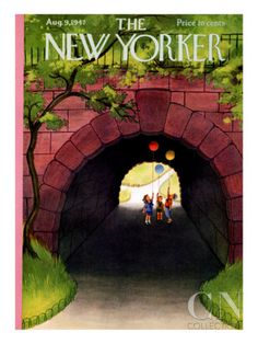 The New Yorker Cover - August 9, 1947 Poster Print by Edna Eicke at the Condé Nast Collection