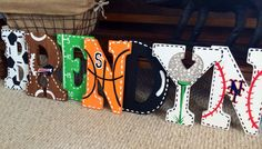 Painting Wood Letters Boy Canvases 35 Ideas For 2019 Large Wooden Letters, Painted Letters, Wood Letters, Design Letters, Baby Girl Nursery Themes, Baby Boy Nurseries, Candy Land Theme, Butterfly Artwork, Letter A Crafts
