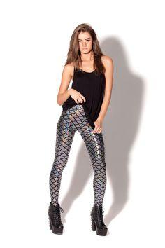 Mermaid Silver Leggings › Black Milk Clothing