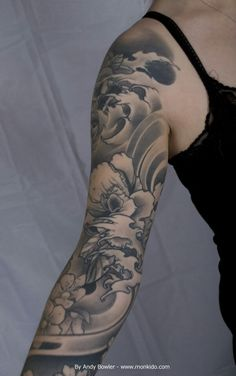 Monki Do Tattoo Studio: Custom Japanese Sleeve by Andy Bowler, Monki Do Tattoo Studio